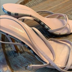 Pink Burberry strappy not to high heels